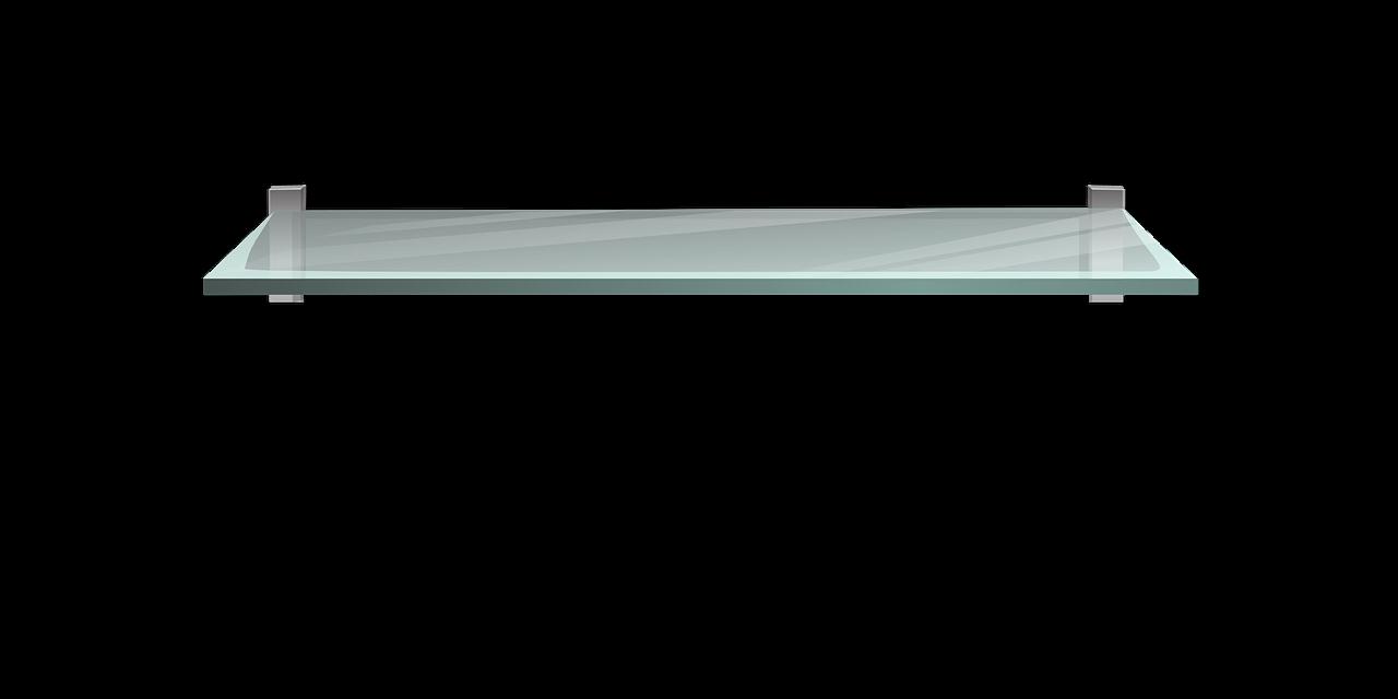 מדף מזכוכית